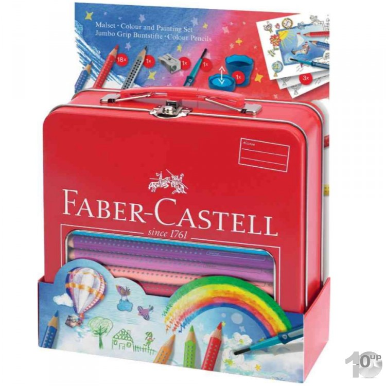 faber castell jumbo colour grip malset im metall koffer. Black Bedroom Furniture Sets. Home Design Ideas