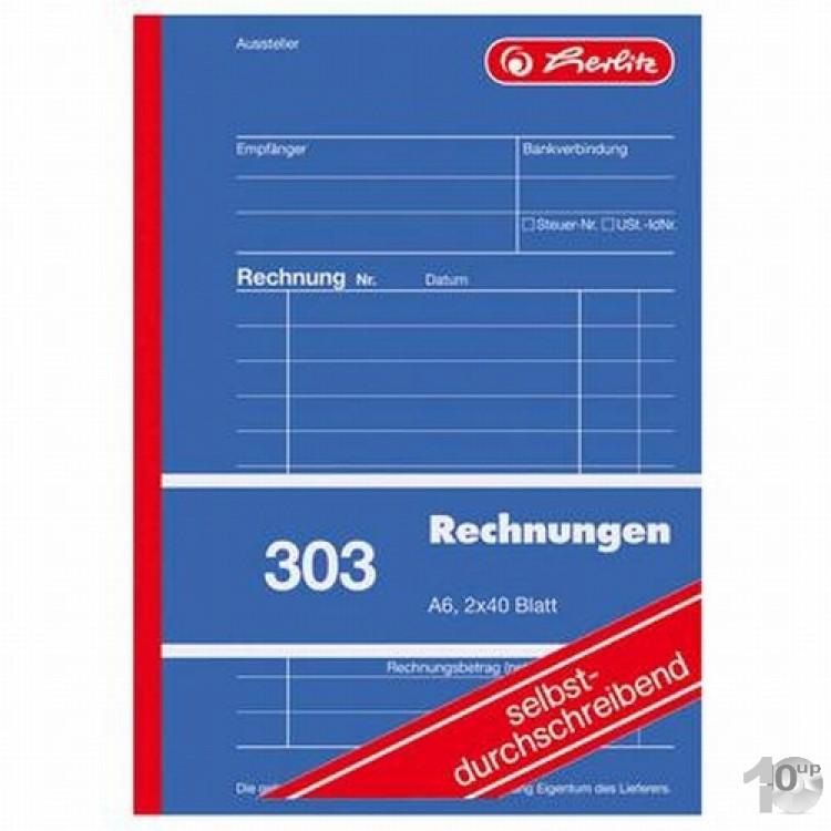 5x Rechnungsbuch A6 2x40 Blatt Selbstdurchschreibend 2 x 40 Blatt Rechnung Buch